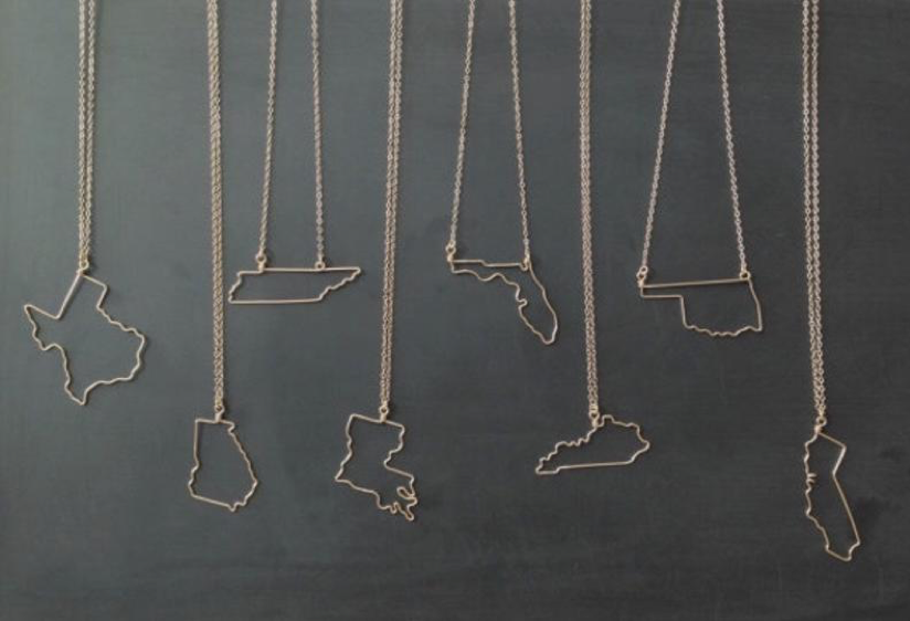 Home State Necklace Gift Ideas