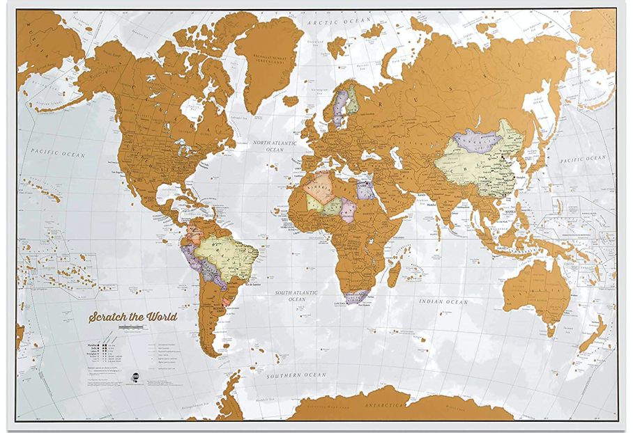 Scratch World Map Gift Ideas
